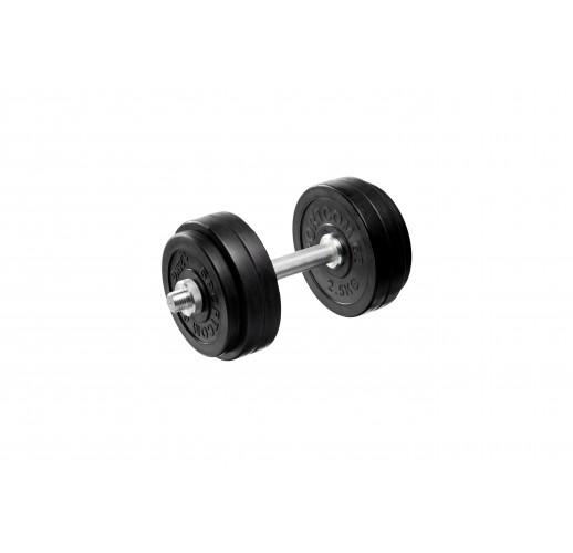 Гантель гриф 40 см, (диски 5кг*2 2,5кг*2; 1,25кг*2 ) 19,5 кг